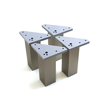 Design61 Juego de 4 Socket De Pie stellfuss aluminio pie ...