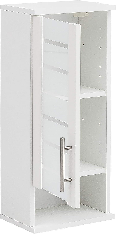 59,8//20,5//70,8 cm Schildmeyer 105660 Niko Color Blanco Armario de Pared para ba/ño