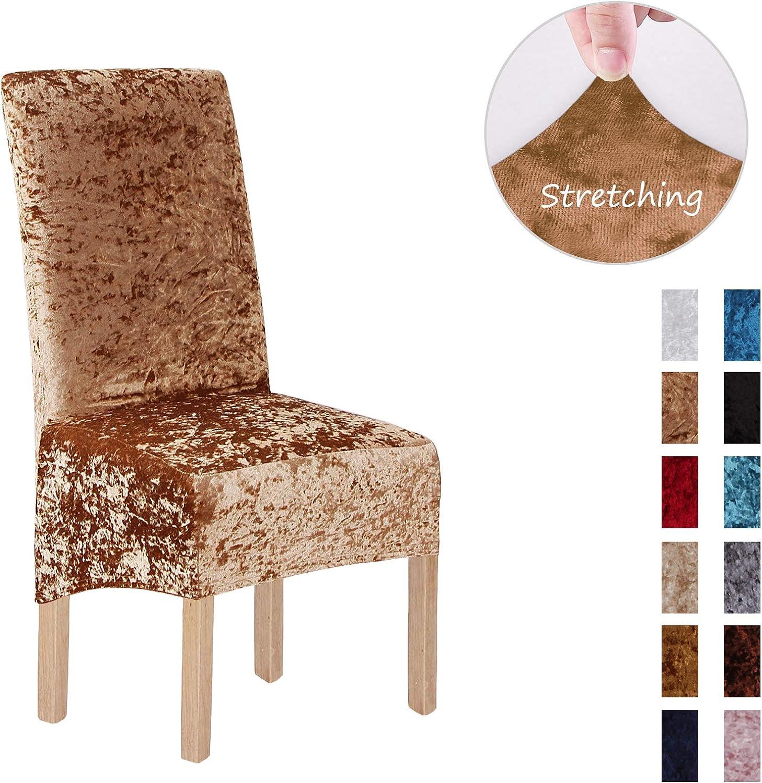 XL ,Blanco Terciopelo triturado 2//4//6 piezas XL Fundas para sillas para sillas de comedor 2 Pack fundas para sillas para comedor Banquete de boda Decoraci/ón para fiestas