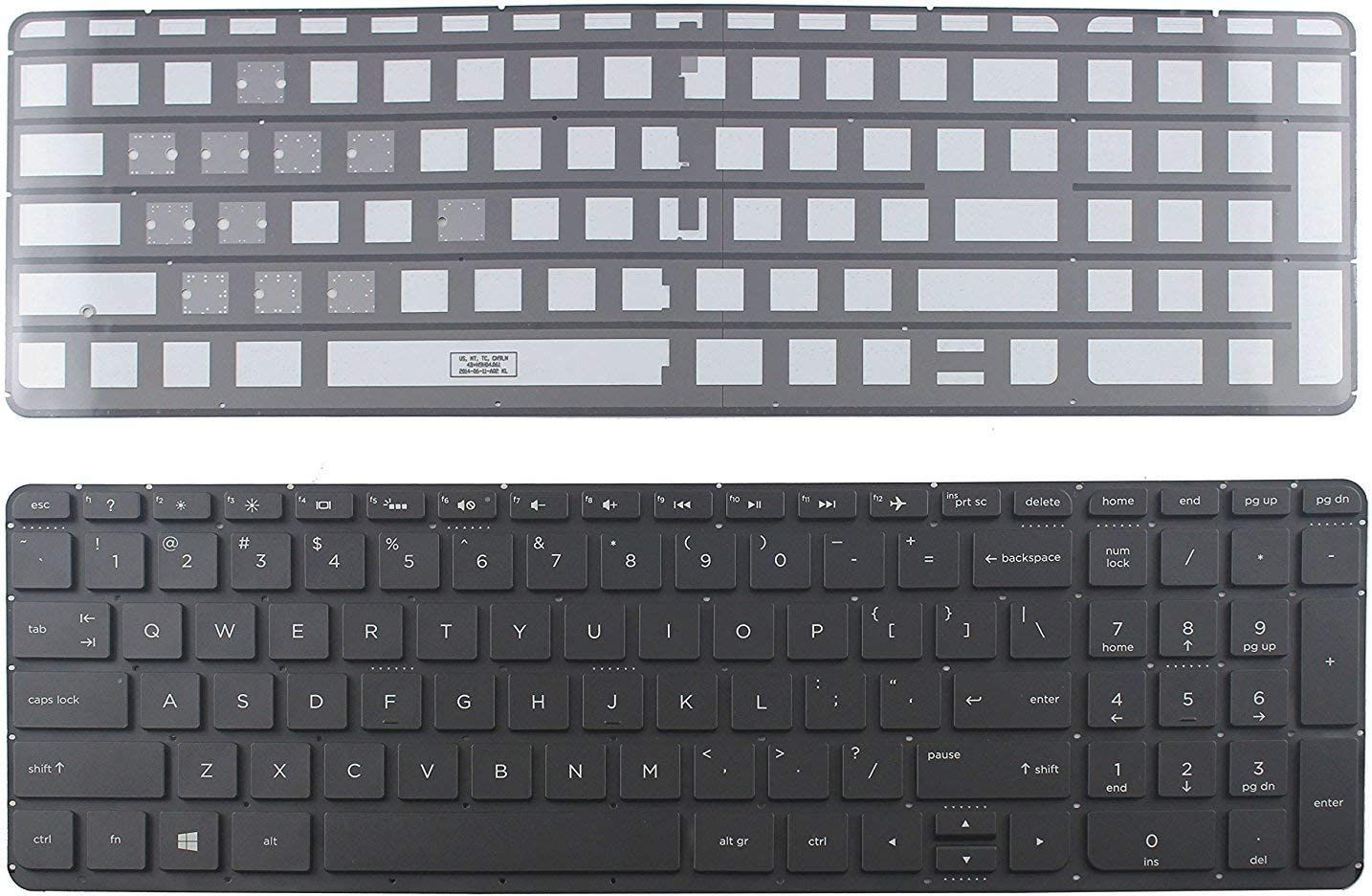 New Laptop Replacement US Black with Backlit Keyboard for HP Pavilion 15-p010dx 15-p051xx 15-p100dx 15/_p111nr CTO SN6133BL1 No Frame