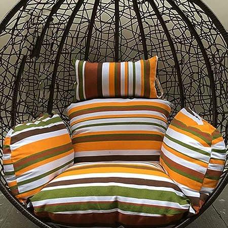 Love Home Cojín De Cesta Colgante Oscilante,Engrosado Algodón Jardín Mimbre Cojines para Silla Alfombra Grande De Silla De Huevo Colgante(Sin Silla)-t 134 * 125cm(53x49inch): Amazon.es: Hogar