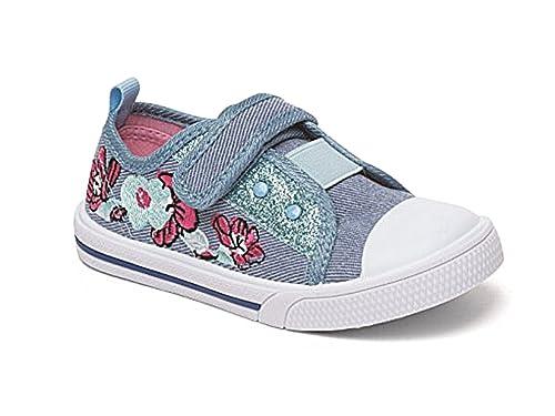Foster Footwear - Zapatillas de Lona para niña Rosa Rosa 36.5: Amazon.es: Zapatos y complementos