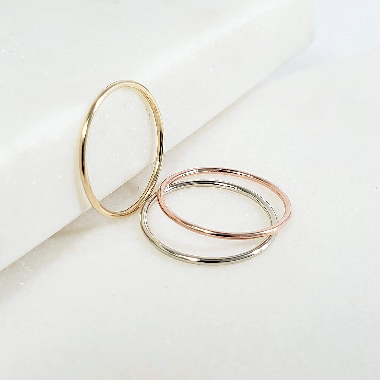 14k thin ring