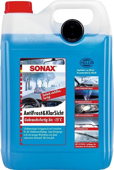 SONAX-Líquido anticongelante 5Lt-10 °C mezcla ya listo limpiaparabrisas radiador