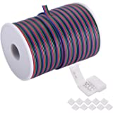 C-able 100ft(30.5m) 22 AWG 4Pin RGB Wire Extension Cable with Spool, Led Lights Wires Strip Extend Wire for 5050 3528…