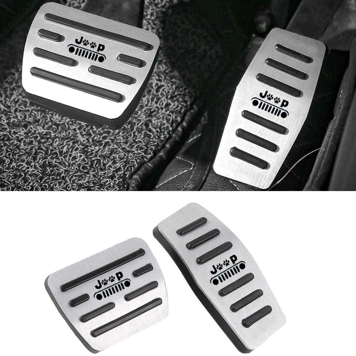 Aluminum Alloy Anti-Slip Gas Pedal Cover Break Pedal Pad at Accelerator Pedal Covers for Ford F150 2019 Jaronx No Drill Pedal Covers for Ford F150 2PC Set