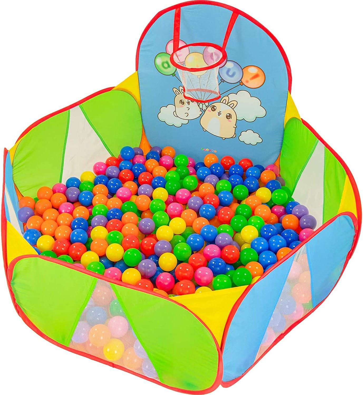 NUBUNI Piscina de Bolas : Piscina Infantil : Piscina Bolas para Parque Infantil : Piscina Bolas Bebe a : Parque de Bolas a: Mini Canasta Baloncesto Habitación