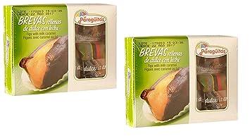 EL PARAGUITAS Brevas Rellenas con Dulce de Leche 120 grs. - 2 Pack. /