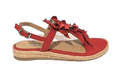 Sandals Damen Sandalen, Rot - Rot - Größe: 35