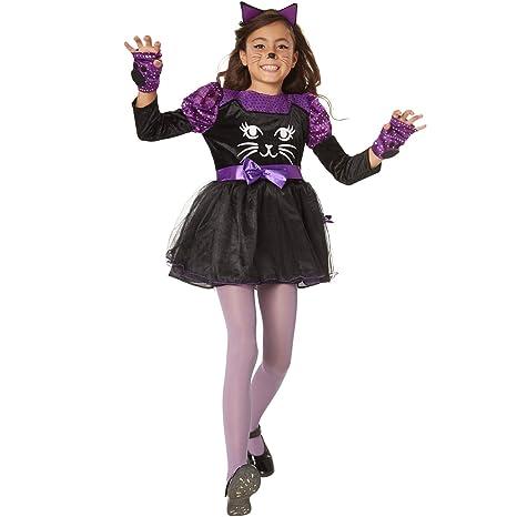Ragazza animale gatto nero di cosplay abbigliamento Halloween cosplay dance performance.