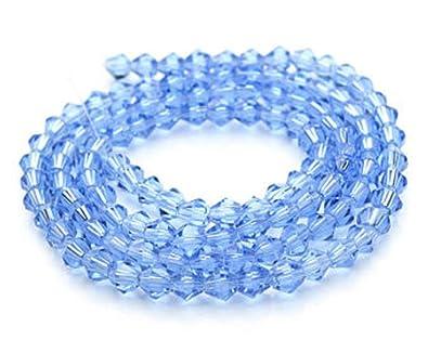 a2bb750235e07 SMARTBUYER SKY BLUE Bicone Swarovski Crystal Glass Loose Spacer 4mm Beads  DIY Crystal swarovski jewelry making