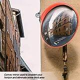Specchio convesso di sicurezza,Specchio convesso da traffico in policarbonato Specchio stradale,diametro 45 cm,per la sicurezza stradale e la sicurezza negozio,45cm