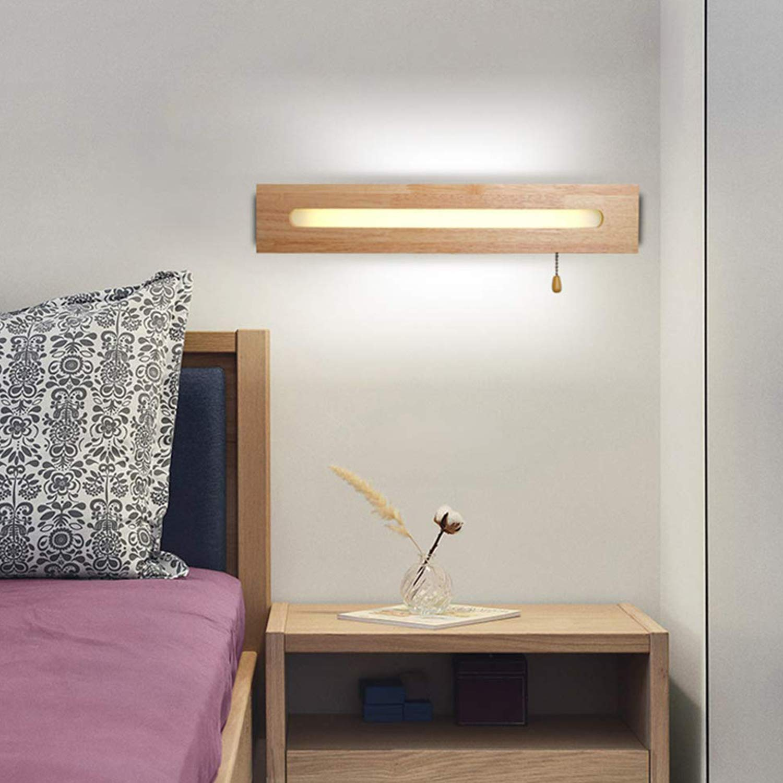 Xzhbd Kreative Moderne Wandlampe/• Mit Zugschalter/• Badezimmer Wandstrahler/• Spiegelleuchte/• Schlafzimmer /•Nachttischlampe/• Kinder Nachtlicht/• Arbeitszimmer Leselampe/• 8W Gummi Holz Wandlampe