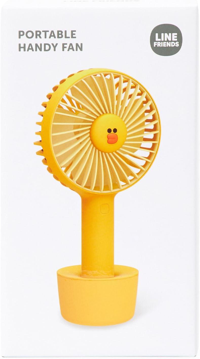 LINE Friends - Mini ventilador personal de mano (3 velocidades ...