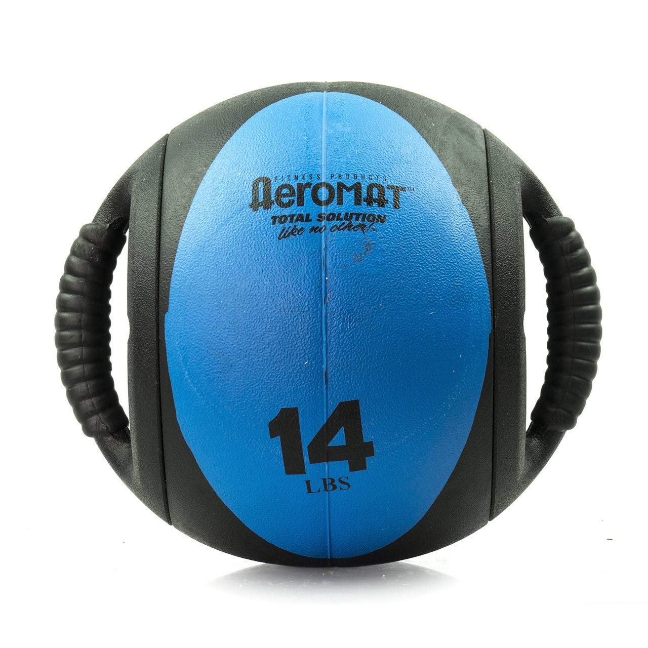 Aeromat Dual Grip Power Medicine Ball, 9cm/14-Pound, Black/Blue