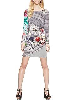 Desigual - Robe - Femme - Bleu - 40  Amazon.fr  Vêtements et accessoires c9158fa60bb3