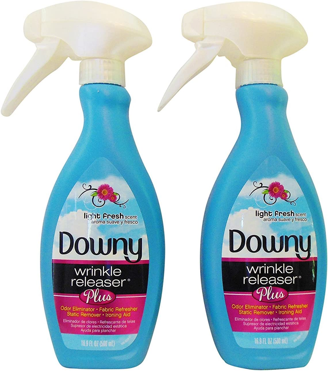 Downy Wrinkle Releaser Plus, Light Fresh Scent, 16.9 Fl. Oz (Pack of 2)