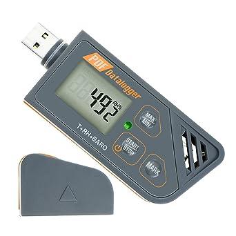 Digital impermeable USB Data Logger humedad Temperatura y presión Barómetro Data Logger Gauge, generar PDF