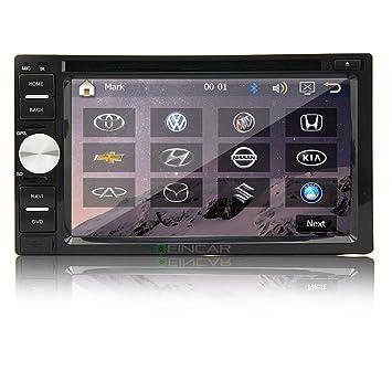 Bluetooth Audio Doble DIN Coches Reproductor de DVD GPS Autoradio Unidad Principal de všªdeo USB SD ESTšŠreo Receptor de Radio FM del Coche Insignia Am ...