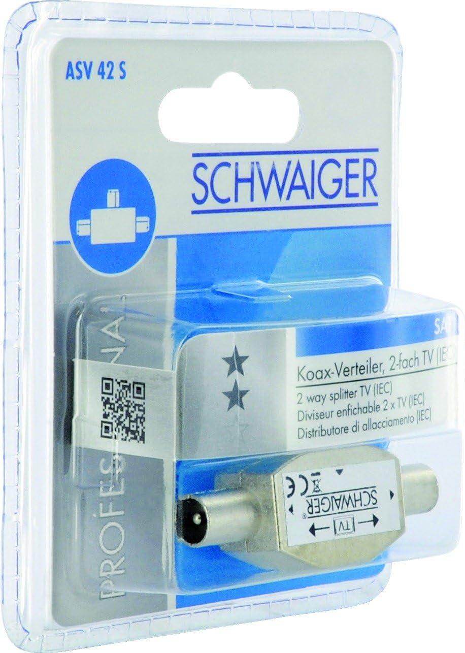 Schwaiger Asv42s 531 Aufsteckverteiler 2 Fach Tv Für Elektronik