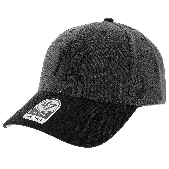 Gorra curva negra clara de New York Yankees MLB MVP Audible 2 Tone de 47  Brand - Negro 64d42568e50