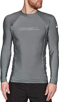ONeill Hombre Pieles básicas Camiseta de Manga Larga Rash Chaleco Top Smoke - Protección Solar UV y propiedades SPF: Amazon.es: Deportes y aire libre