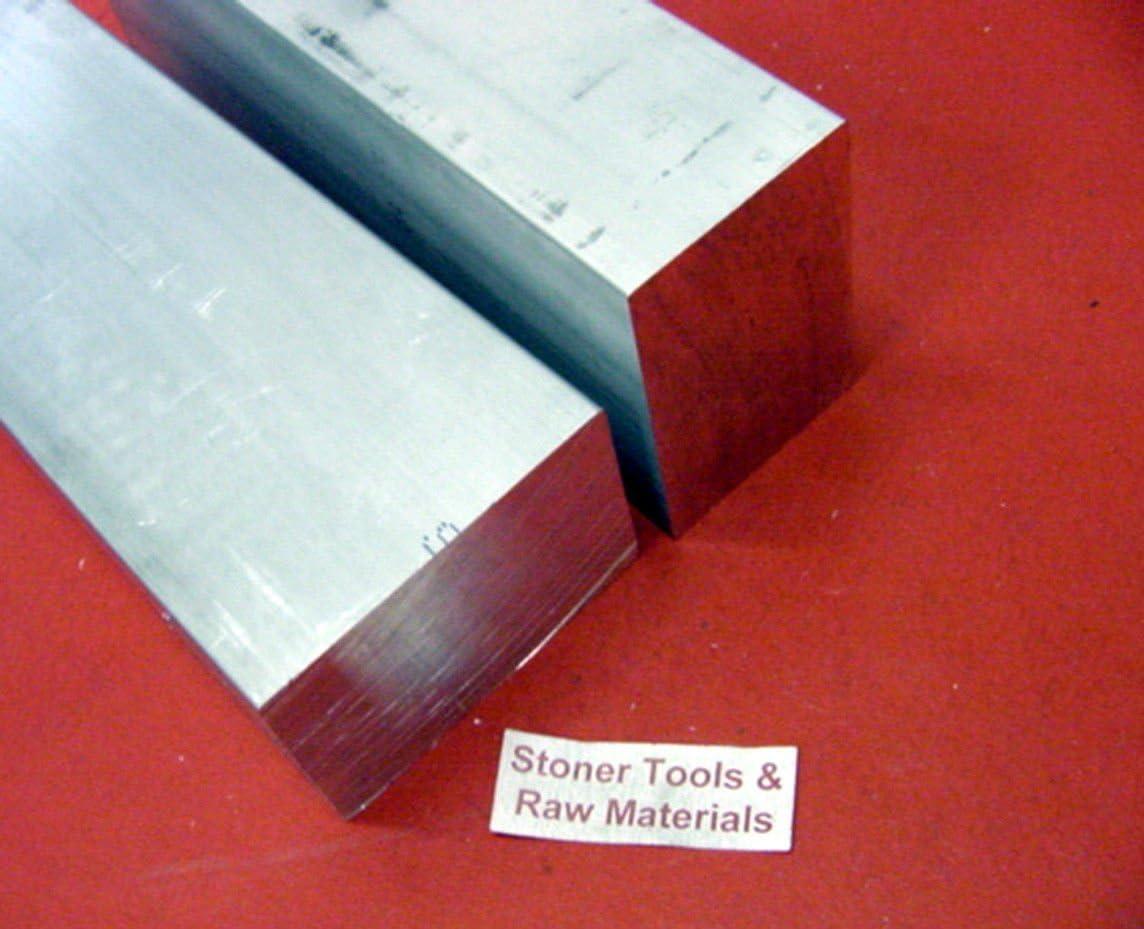 2 pieces 1 X 2 ALUMINUM 6061 FLAT BAR 10 long Solid 1.00 T6511 New Mill Stock