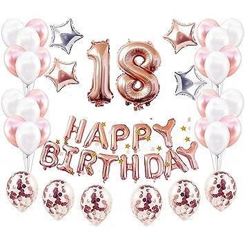JinSu Decoraciones para 18th Cumpleaños para Fiestas de ...