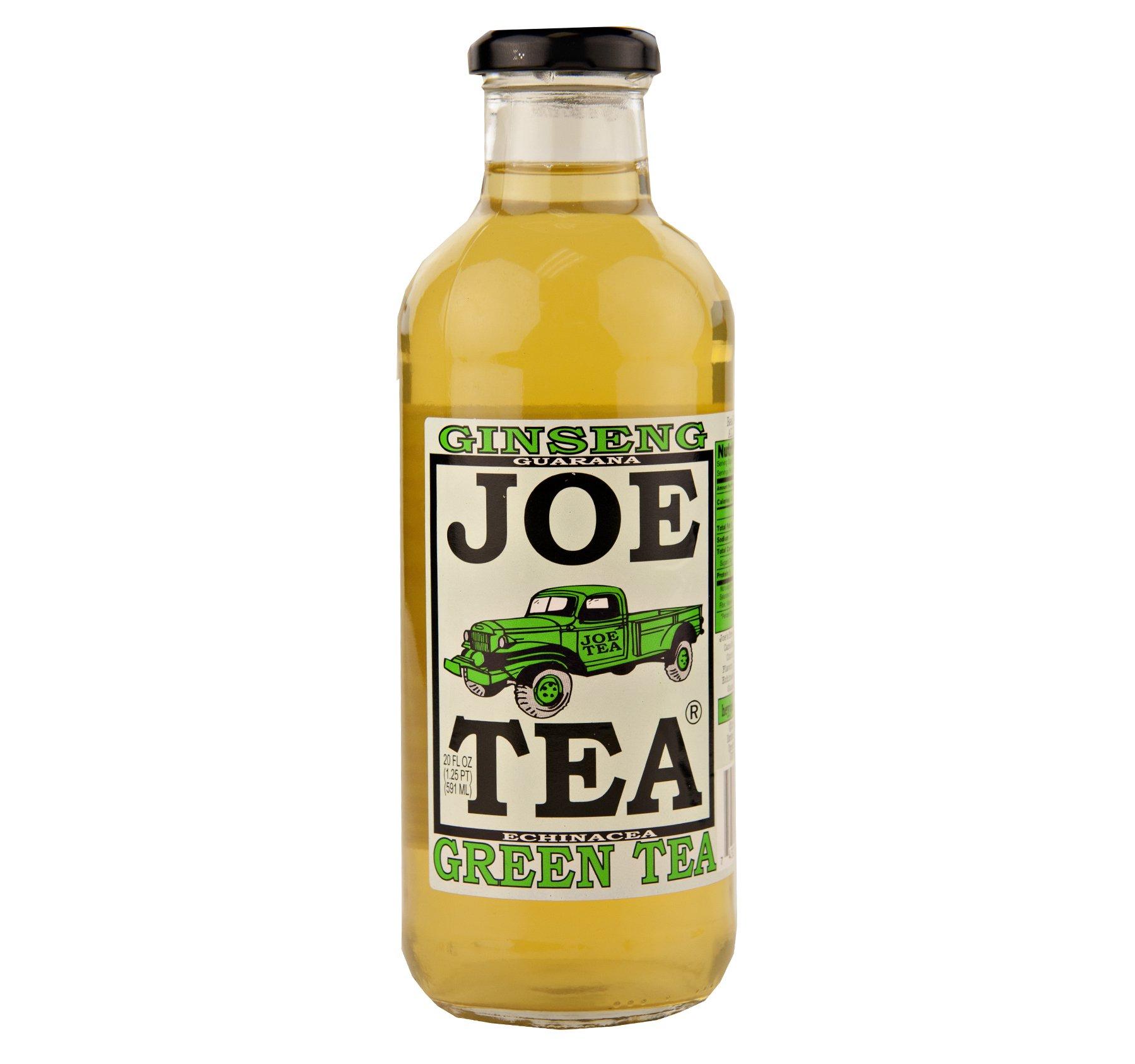 Joe Tea Ginseng Green Tea 20 oz. Bottle (12 Bottles) by Joe Tea