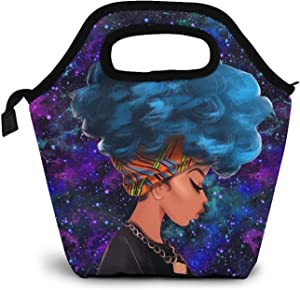 Lunch Bag, 3D Africa Women Lunch Box Food Container Reusable Insulated Lunch Tote for Office School Picnic