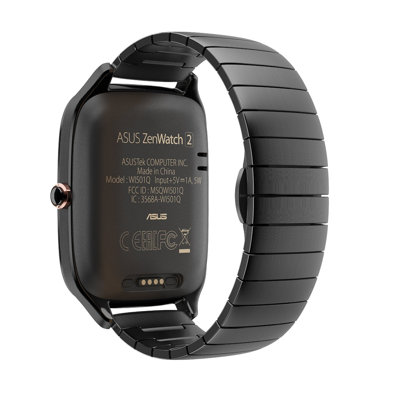 ASUS ZenWatch 2 Smartwatch 1.63'' Stainless Steel - Gunmetal/Gunmetal Metal Band (Certified Refurbished) by Asus (Image #3)
