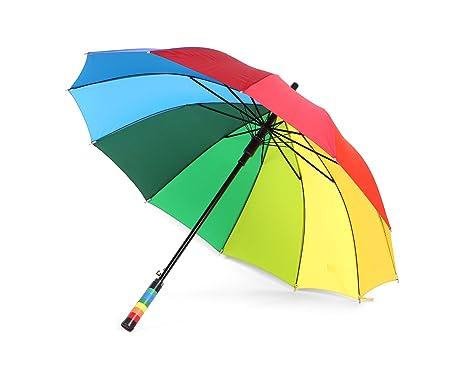 We Show Pride LGBT Paraguas Unisexo Colorido Arco Iris (Paquete de 1)
