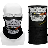 iTimo Balaclavas Half Face Mask for Motorcycle Bicycle Riding Outdoor Sports Wicking Seamless Scarf Neck Moto Face Mask Funny(Style1)