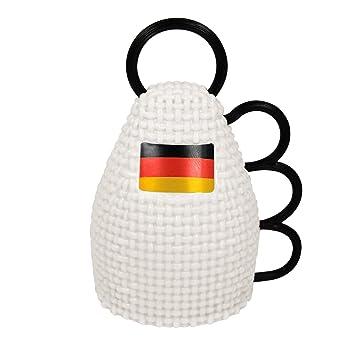 Instrument//Rassel Deutschlandfarbe Deutsches Team Vuvuzela Sportfest Anfeuern Nationalmanschaft Eaxus/®️ Parent WM Fu/ßball Caxirola Fanartikel Weltmeisterschaft Jubelinstrument