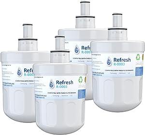 Refresh Replacement for Samsung Aqua-Pure Plus DA29-00003G, DA29-00003A, DA2900002B, DA2900003, DA2900003F, DA290002, HAFCU1, HAFIN2 and Waterdrop WD-DA-29-00003G Refrigerator Water Filter (4 Pack)