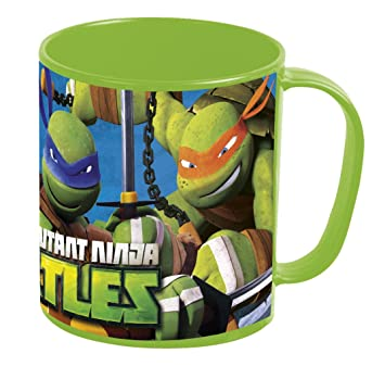 Tortugas Ninja- Taza plastico microondas 36 cl (STOR 48404), centimeters (