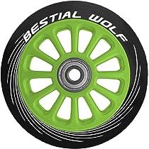 BESTIAL WOLF Rueda Pilot para Scooter Freestyle, Diámetro 100 mm