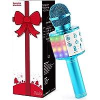 Fede Micrófono Karaoke Bluetooth, Microfono Inalámbrico Karaoke Portátil con luz LED multicolor para Niños Canta Partido…