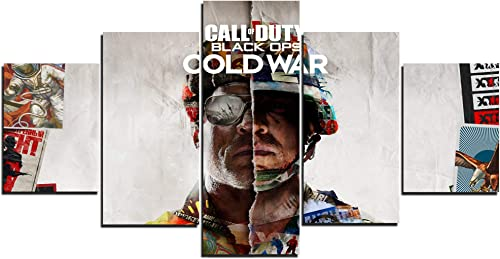 TYHC Call of Duty: Black Ops Cold War Video Game Art Canvas Posters Home Decor Wall Art 5 Pieces Painting