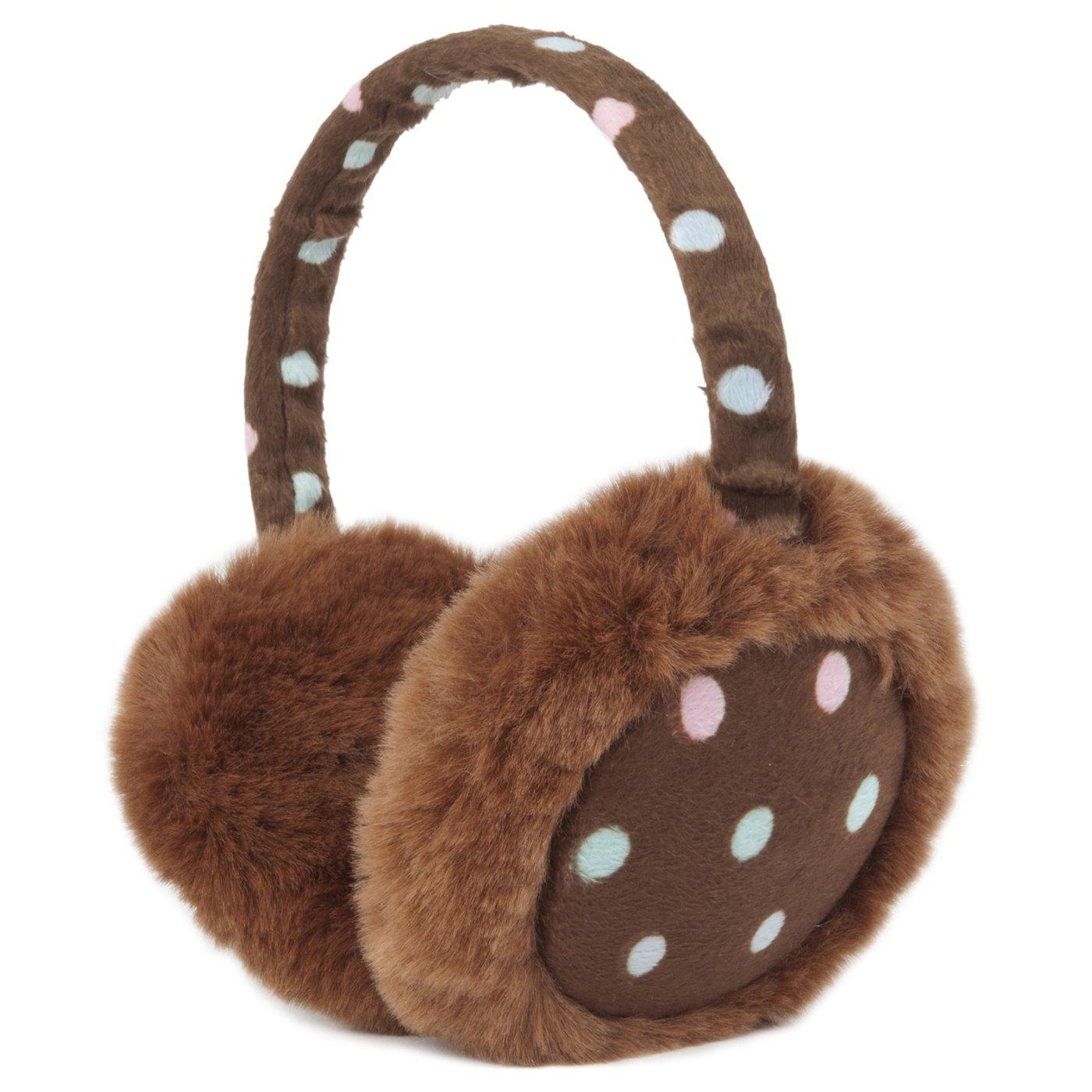 Momo Grow Katie Polka Dot Earmuffs (Adult & Kids) - Brown 220-144789-BRN