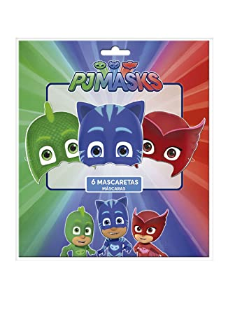 Amazon.com: Pjmas, pack 6 childrens faces. Product of cardboard.: Toys & Games