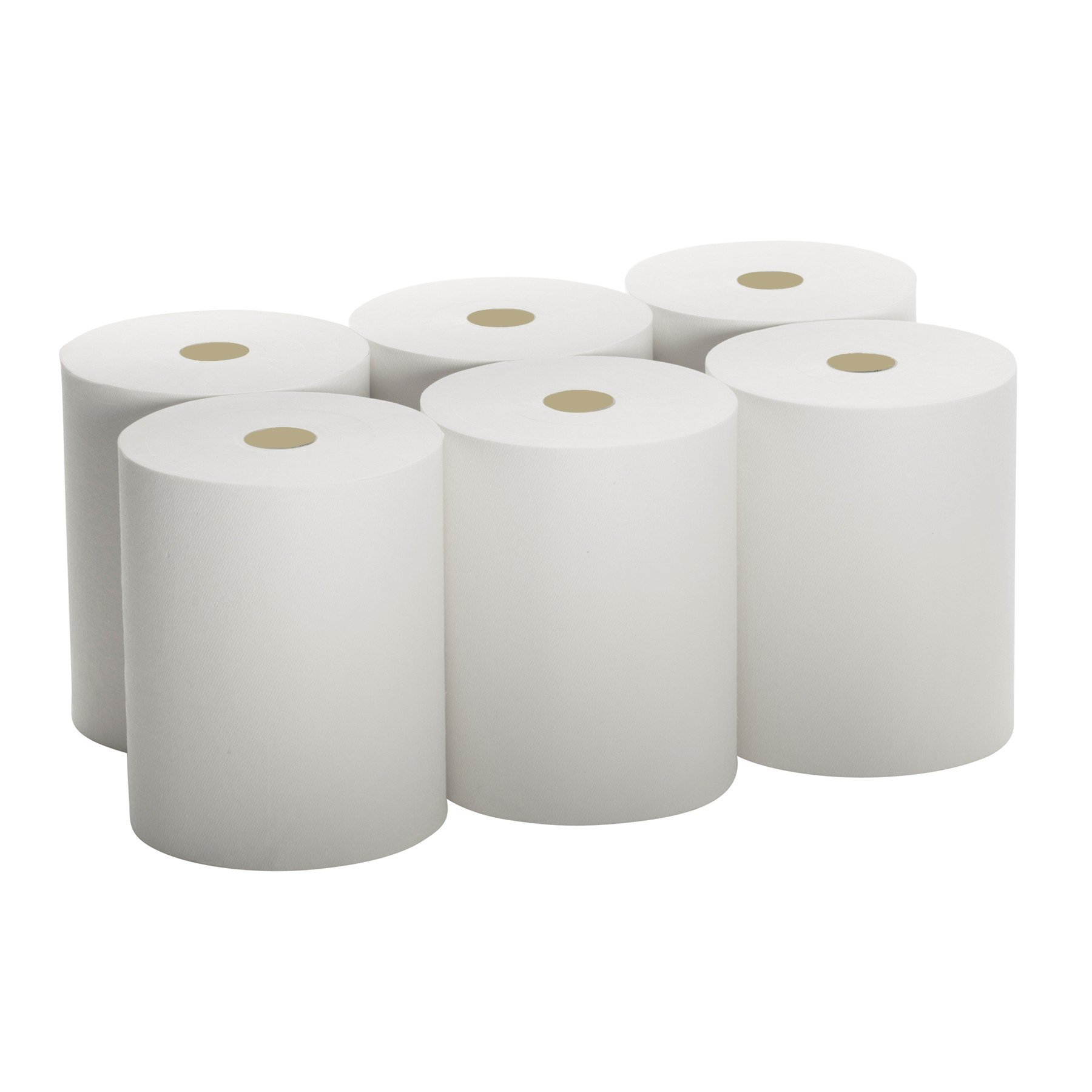 High Capacity White Paper Towels 10''x800' (Packed 6 Rolls) Premium Quality Fits Touchless Automatic Roll Towel Dispenser by A World Of Deals