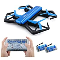 JJRC Beginner Selfie Drone with 720P HD Camera, FPV RC Quadcopter H43WH (Stable Hovering + Altitude Hold + 360-Degree Rotations + Headless Mode), Great Toy Present or Gift for Children Boy and RC Drone Lover