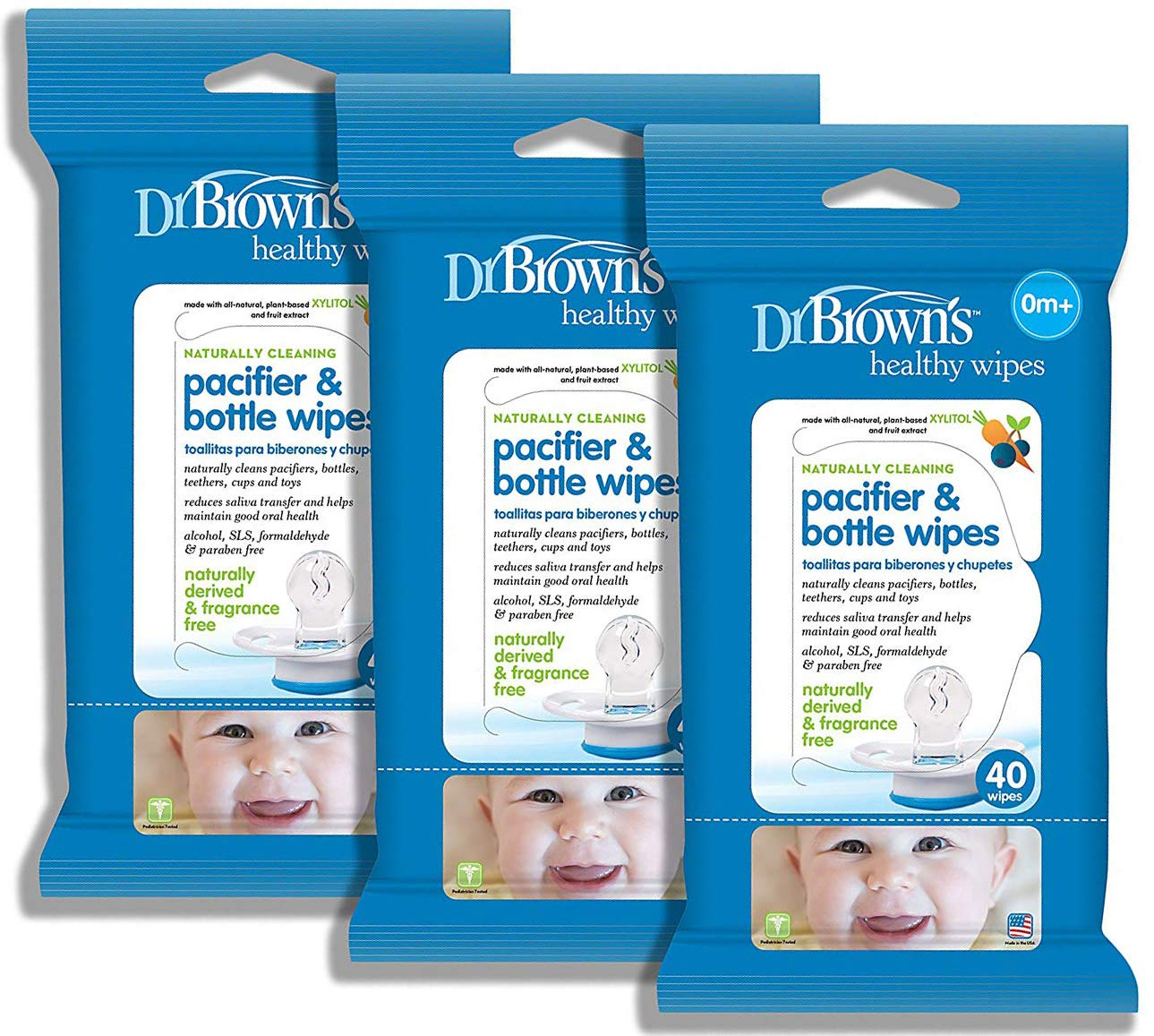 Amazon.com : Dr. Browns Pacifier and Bottle Wipes, 40 Count ...