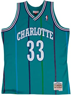 854cd06d8c0d Amazon.com   Alonzo Mourning Charlotte Hornets Adidas NBA Throwback ...