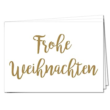 Weihnachtsgrüße Postkarte.Tysk Design Postkarten Frohe Weihnachten 20 Postkarten Gold Karte Deko Weihnachten Weihnachtskarte Weihnachtsgruß