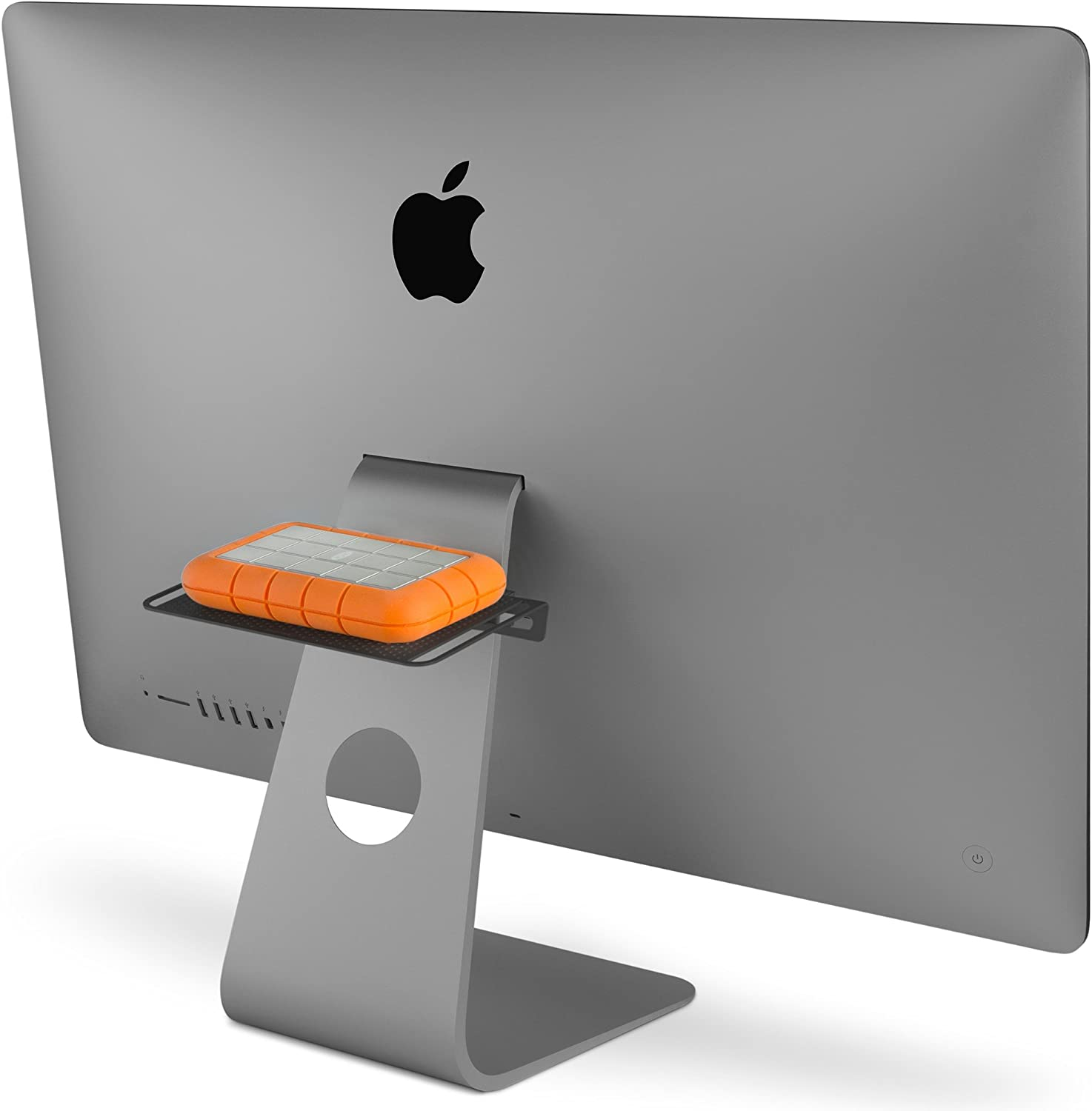 Twelve South Backpack for iMac and Apple Displays | Hidden Storage Shelf for Hard Drives and Accessories (Matte Black)