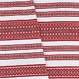 "VALENTINE'S GIFT IDEA Decorative fabric with Ukrainian ornament Eaater Tablecloth interior ethnic white red black 300x150 cm / 118""x59"""