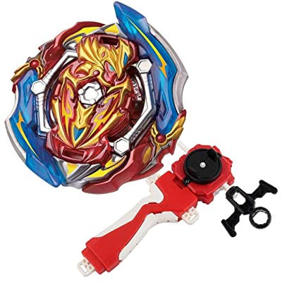 Bey Burst Evolution Turbo Battling Top Blade God Bey Lr Launcher Grip Spryzen Starter Set B-150 Booster Union Achilles Cn.Xt+Retsu Balance Gyro Bay Battle Gaming Tops Novelty Spinning Toy Gift for Boy: Toys & Games