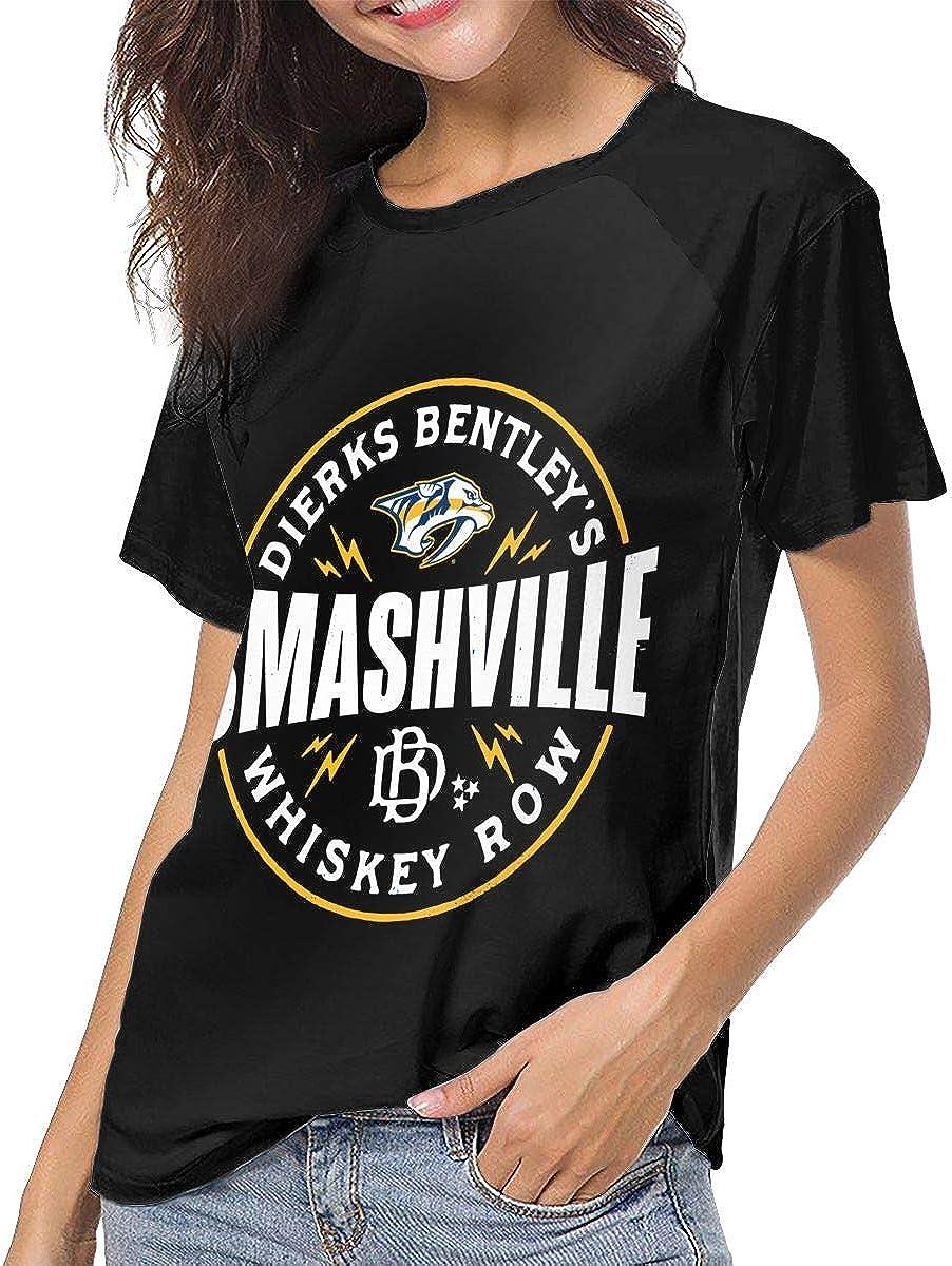 B07XTCTPMS NarcNton Dierks Bentley Black Women Short Sleeve Baseball T Shirts Casual Loose Blouse Tops 71TCQ5FY2ZL
